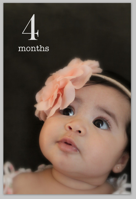 4 month new born photography