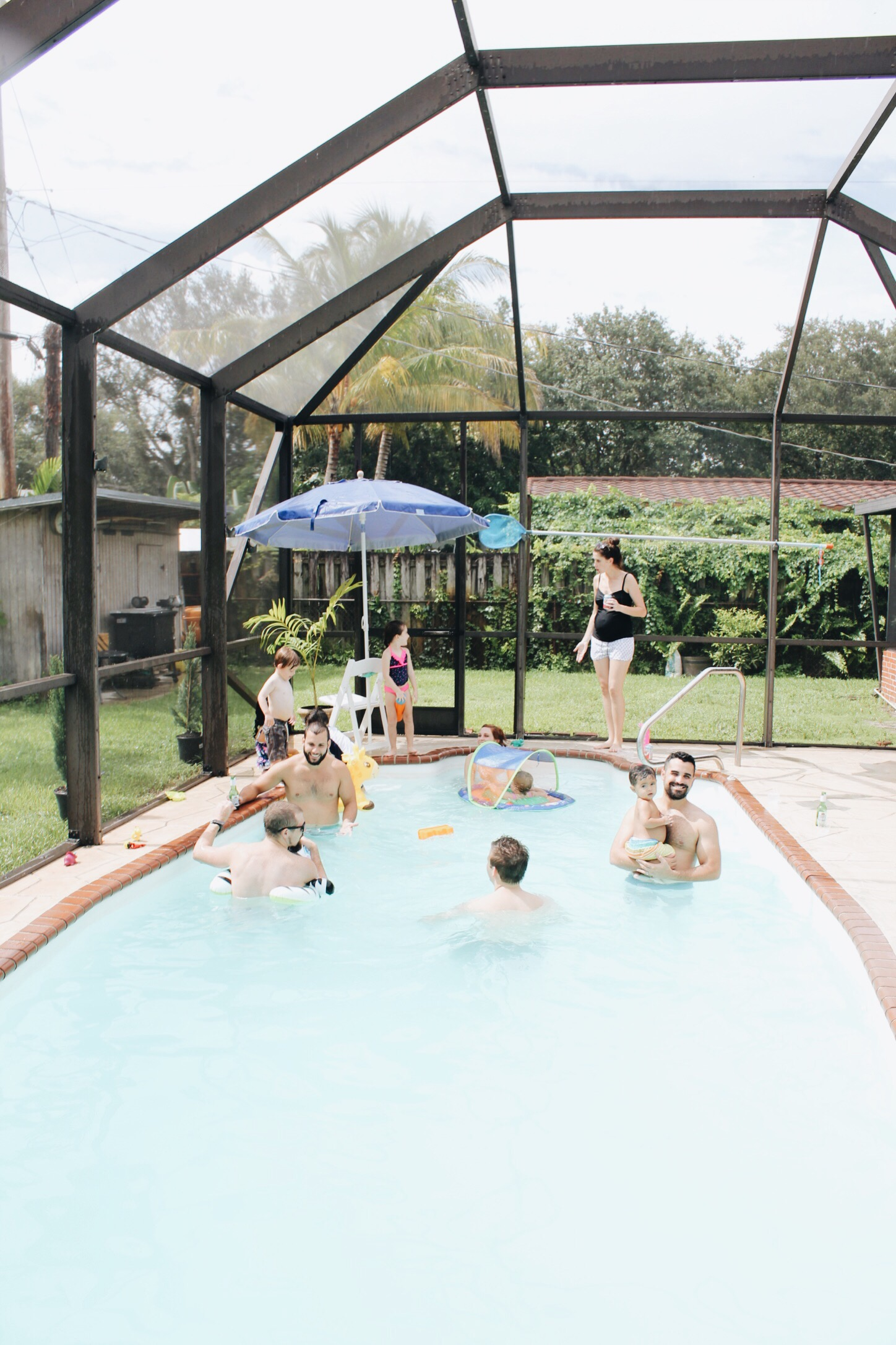 weekend and a pool party