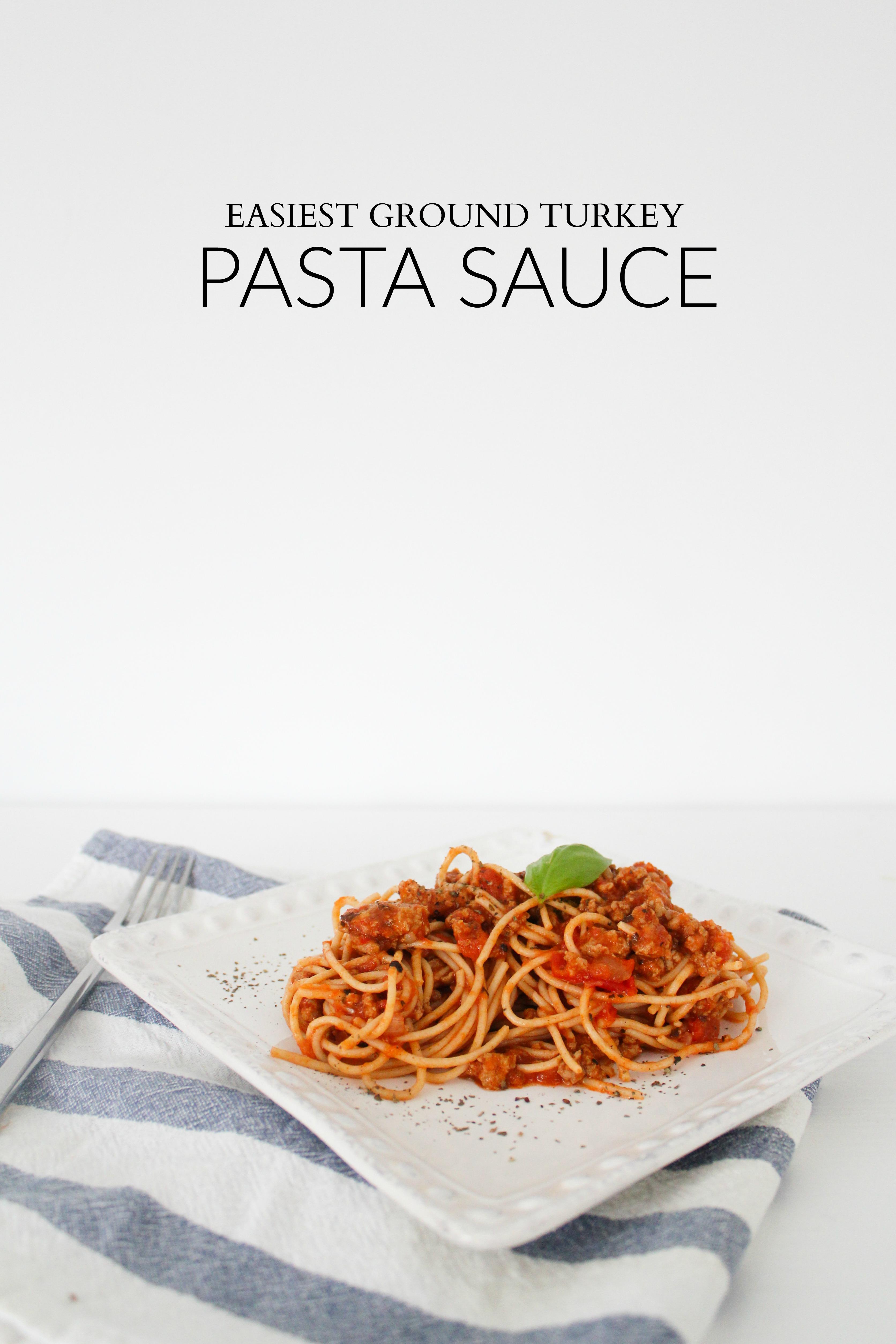 go to turkey pasta sauce