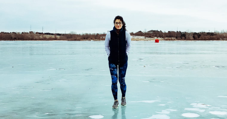 STANDING ON THE FROZEN POND